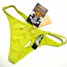 A0369 Dereon Sleek Soft Golden Logo Microfiber Thong D3302 KIWI SIZE  EXTRA LARGE