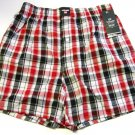 A0345 ecko unltd Men's Passion of Plaid Woven Boxer 2646 Red, SIZE S