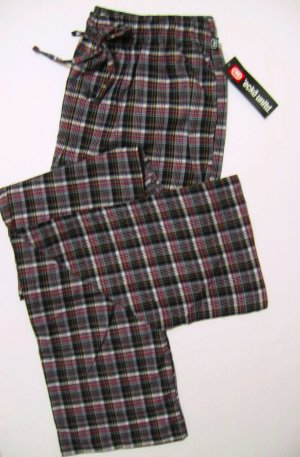 A340-1 ecko unltd Woven Grid Lounge Pant EK09P1 BLK-RED SIZE Small