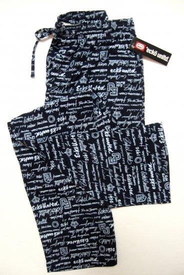 www.prominentresults.com : A375 ecko unltd Mens Navy Logo Knit Lounge Pant EK8102P