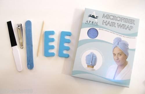 9B010 7-Piece Care Kit: Manicure set + MF Hair Wrap New