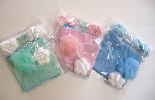 9B001 Bath Kit Bath Pillow Headband Bath Fizzer Sponge