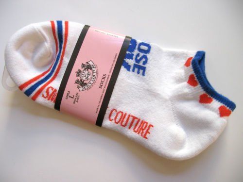 9S002 Juicy Couture CHOOSE JUICY Girls Cotton Socks L