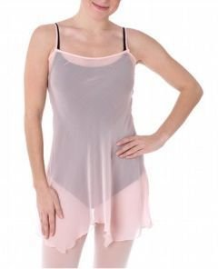 D7 Danskin Sheer Pure Silk Camisole Tunic 4419 Pink New