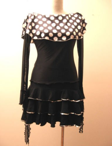 LPT102 Polka Dots Scarf Collar Bk Mesh Wing Sleeves Top