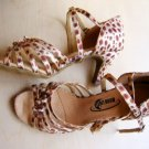 "Z3 Sale Moonlight Ladies Satin Dance Shoes 2.5"" Leopard"
