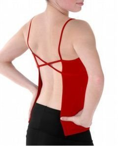 D0005 Danskin Anti-Odor Open Back Camisole Top 4375 Red