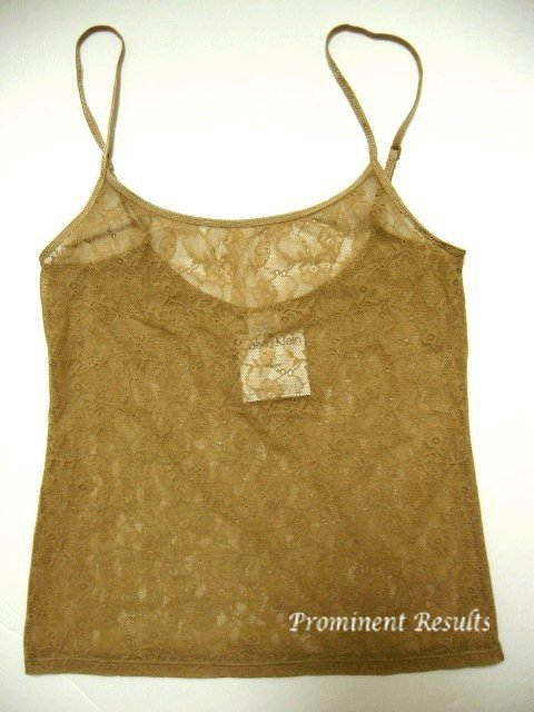 A0238 Calvin Klein Perfect Fit lace Camisole F2858 DUNE SIZE LARGE