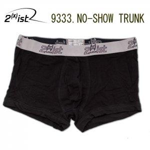A163T 2(x)ist Men's Pulse No-Show Sporty Logo Waistband Trunk 9333 Black Size Medium