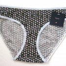 A259 Tommy Hilfiger Women Flower Prints Stretch Thin Cotton Bikini 19D011TH Navy Flowers Size XL