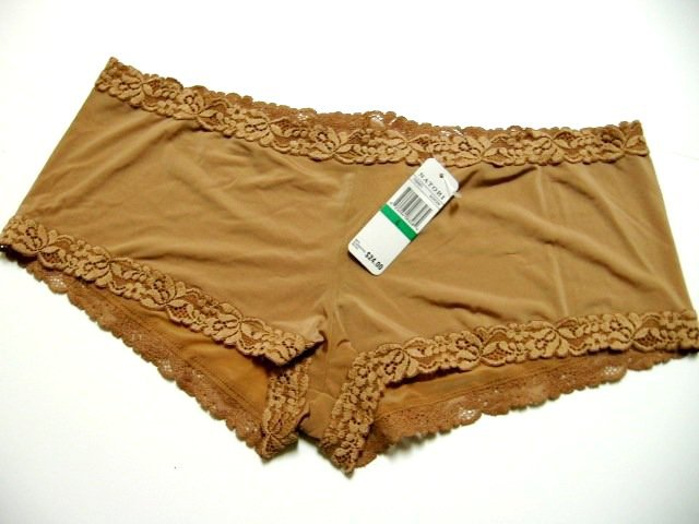 A0231 Natori Body Doubles Girl Embroidered Lace Brief Panties Hipster 156001, SIZE Large