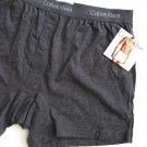 A0100 CALVIN KLEIN Men's Heather Gray Basic Knit Boxer U1049D, SIZE MEDIUM