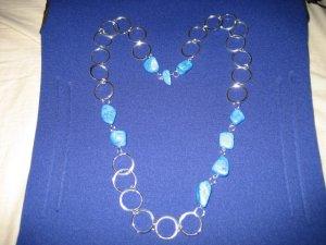 2-3-4 Blue Stone Necklace