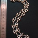 Unique Silver Thick Ring-Linked Chain/Necklace,17.7""