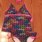 NEW WITH TAGS GIRLS JUSTICE SWIMSUIT TANKINI SIZE 10