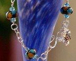 Handmade sterling silver wire wrapped lampwork bracelet