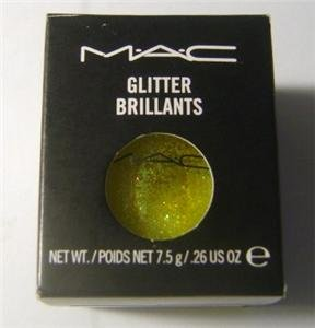 W0W MACS PRO GLITTER BRILLANTS  CRYSTALIZED YELLOW in 1/4 sample sz jar