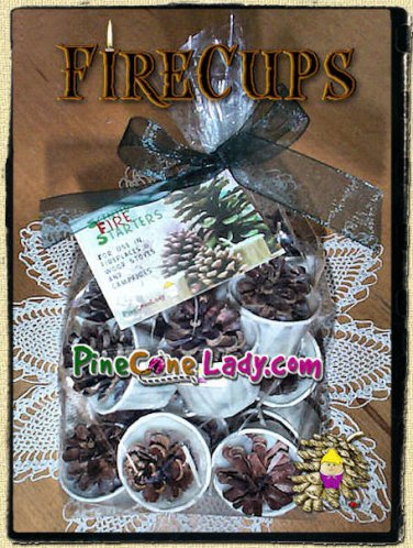 PineConeLady Fire Cups - 12 count