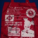 DIY Marilyn Manson Red Canvas Tote/Purse - Handbag - Heart Shaped Glasses