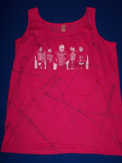 DIY My Chemical Romance Tank Top - Pink - Sz L-XL - Gerard Way and The Black Parade