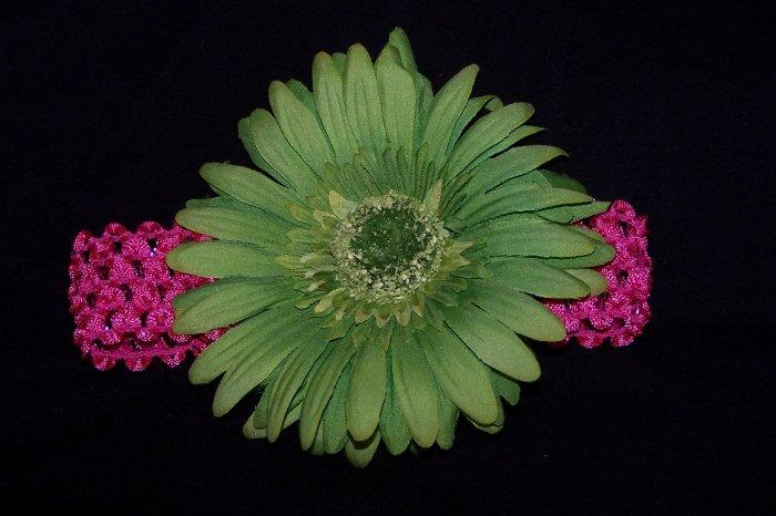 Lime Green Gabera Daisy Headband
