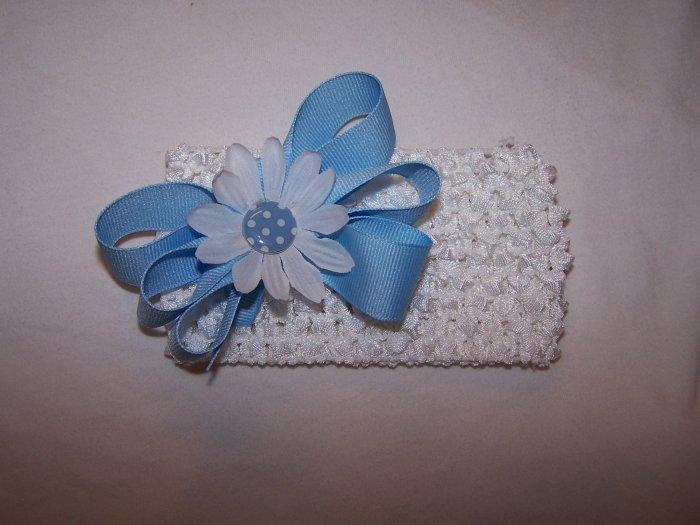 Pale Blue Bow Headband