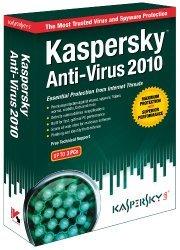Kaspersky Anti-Virus 2010 3 User - KAV903121 - Windows 7 Ready