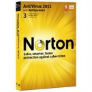 Norton™ AntiVirus 2011 1 User / 3 PCs - 21069978 retail sealed CD & code only