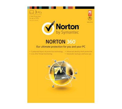 Symantec Norton 360 V5.0 - 3 User  no  Box /never used Retail version