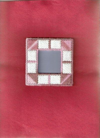 4 x 4 Handmade Plastic Canvas Photo Frame Magnet (3)