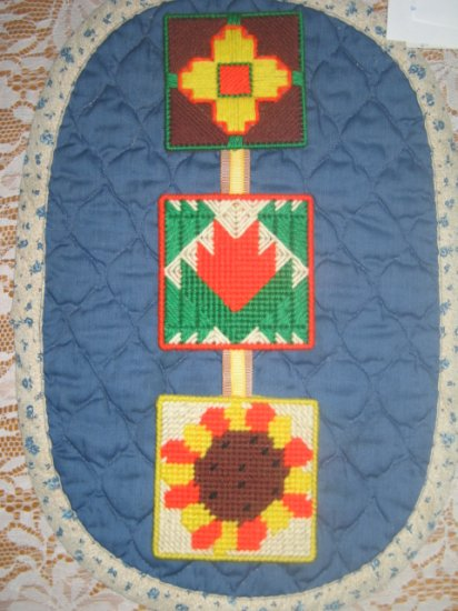 'Desert Designs' Completed Plastic Canvas Wall Hanging