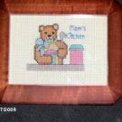 'Mom's Kitched' Completed, Framed Cross Stitch CUTE