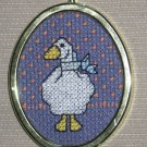 'Country Goose' Completed- Framed-Mini XStitch