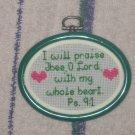 'Psalms 9:1' Finished, Framed Cross Stitch-Hangable