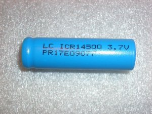AA Lithium Ion 750 mAh Rechargable Cell no tabs
