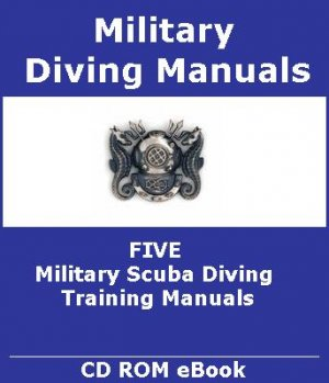 5 Military Scuba Diving Training Manuals on CD