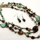 Queen Esther necklace and earrings set.,..