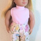 New Doll Clothing - Pink Butterfly Capri Set fits American Girl Doll