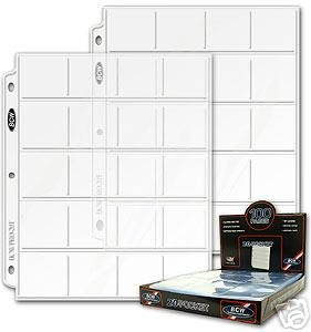 10 High Quality BCW 20-Pocket Pages for 2x2 Coin Holder