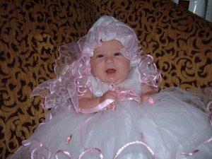 Pink Flower Girl Dress: 9 Months
