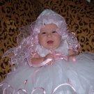 Pink Flower Girl Dress: 12 Months