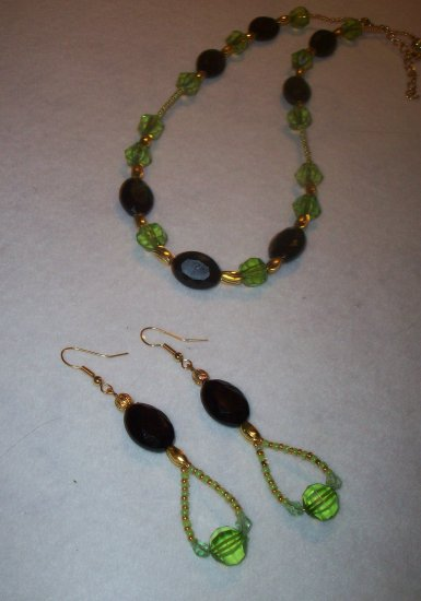 Gold Green & Black Set