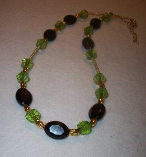 Green Black & Gold Neck.