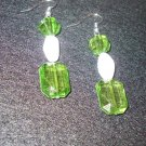 Green & White Dangle