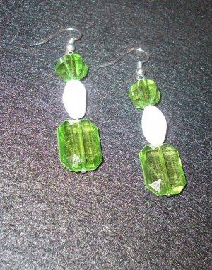 Green & White Dangle