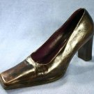 E'CLAT WOMENS BRN  LEATHER PUMPS 38/7.5 $188