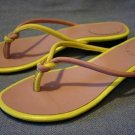 THE GAP WOMENS YELLOW/LILAC THONG SANDALS 7 M MINT