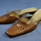 MILA PAOLI COPPER BROWN MID-HEEL MULES SHOES 8 B MINT