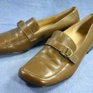 ANNE KLEIN GREEN LEATHER LOAFERS SHOES 8 M MINT