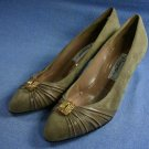 RANGONI WOMENS TAUPE SUEDE SUEDE PUMPS SHOE 8 B NEW
